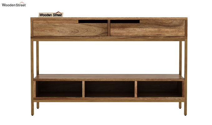 Freesia Console Table (Natural Finish)-2