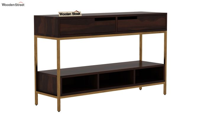 Freesia Console Table (Walnut Finish)-3