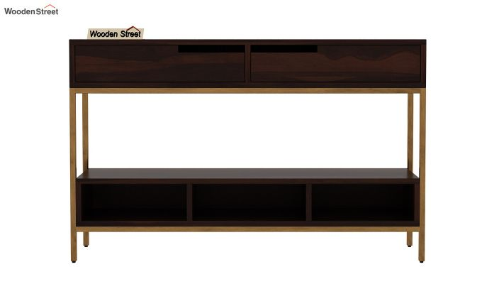 Freesia Console Table (Walnut Finish)-4
