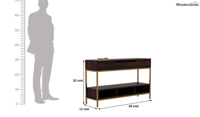 Freesia Console Table (Walnut Finish)-6