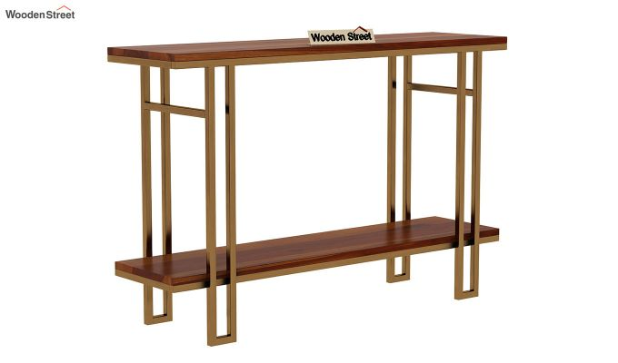 Gate Console Table (Honey Finish)-3