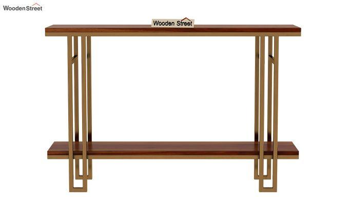 Gate Console Table (Honey Finish)-4