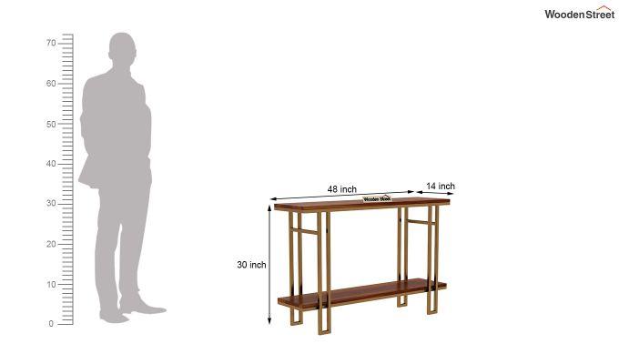 Gate Console Table (Honey Finish)-5