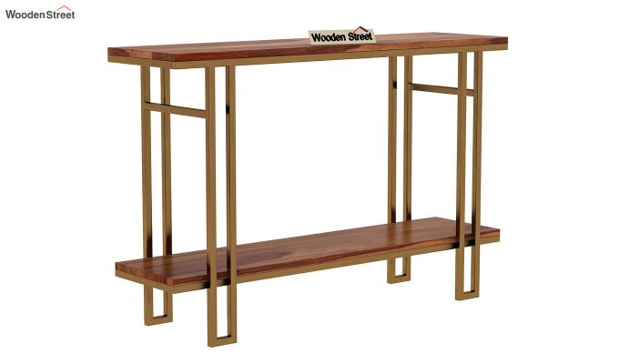 Gate Console Table (Teak Finish)-3