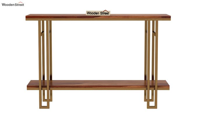 Gate Console Table (Teak Finish)-4