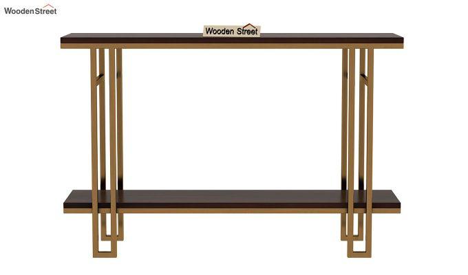 Gate Console Table (Walnut Finish)-4