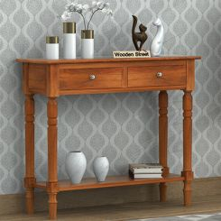 Grapho Console Table (Honey Finish)