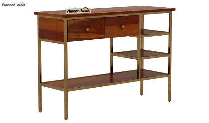 Grapho Console Table (Honey Finish)-4