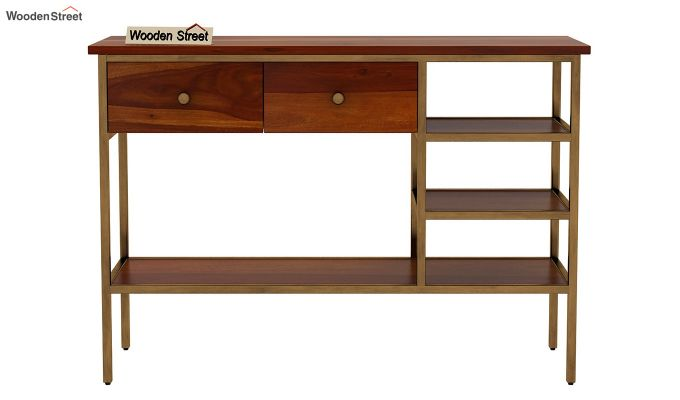 Grapho Console Table (Honey Finish)-2