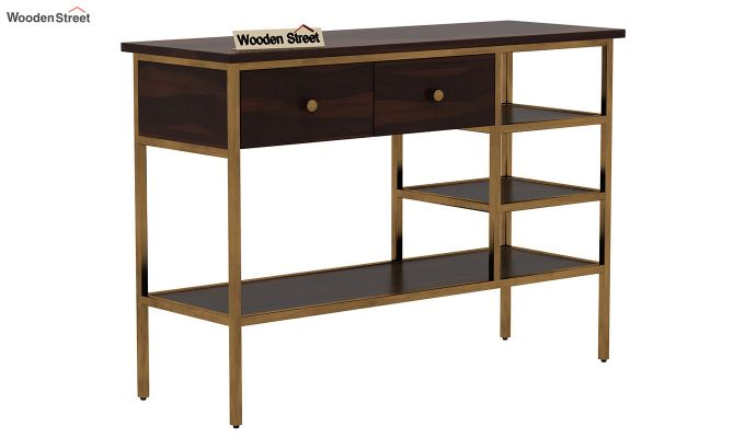 Grapho Console Table (Walnut Finish)-3