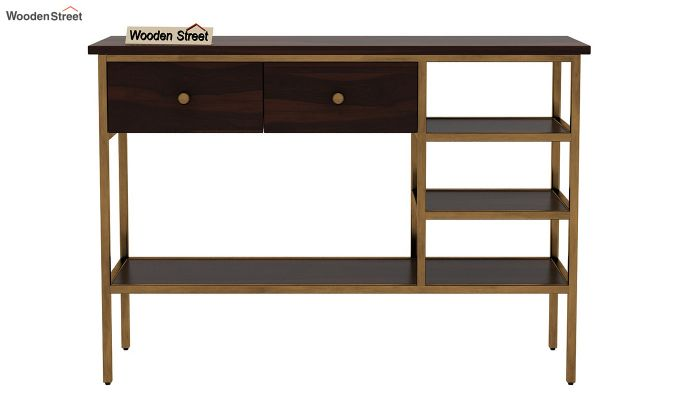 Grapho Console Table (Walnut Finish)-4