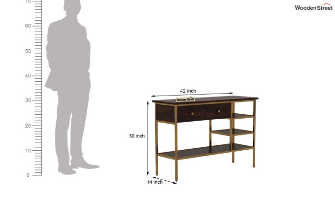 Grapho Console Table (Walnut Finish)-6