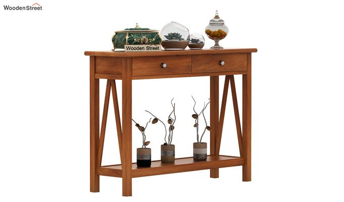 Hilton Console Table (Honey Finish)-1