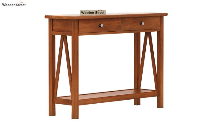 Hilton Console Table (Honey Finish)-4