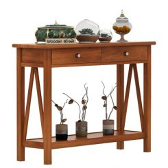 Hilton Console Table (Honey Finish)