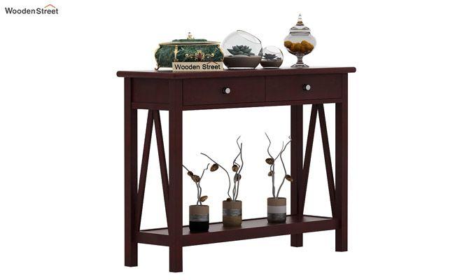 Hilton Console Table (Mahogany Finish)-1