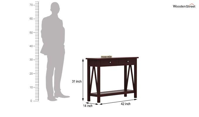Hilton Console Table (Mahogany Finish)-5