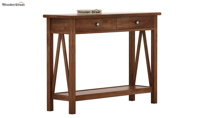 Hilton Console Table (Teak Finish)-4