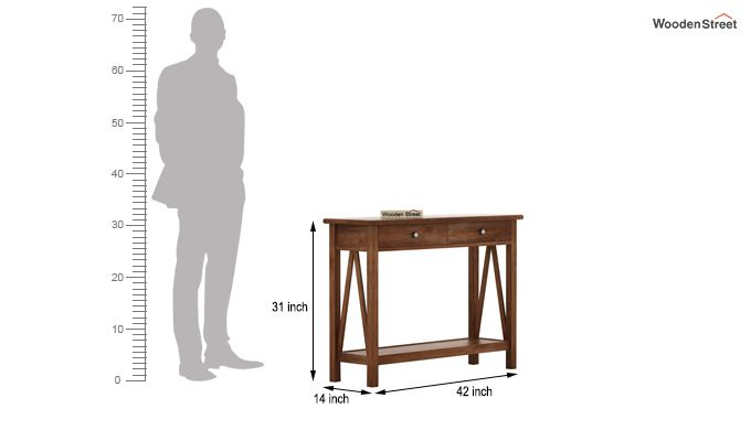Hilton Console Table (Teak Finish)-5