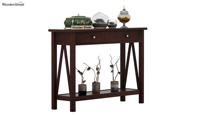 Hilton Console Table (Walnut Finish)-2