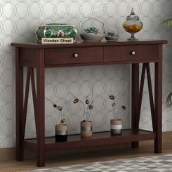 Hilton Console Table (Walnut Finish)