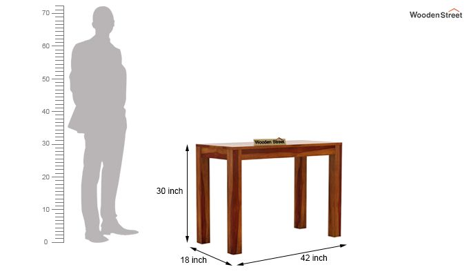 Hout Console Table (Honey Finish)-5
