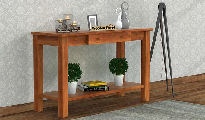 Iverson Console Table (Honey Finish)-1