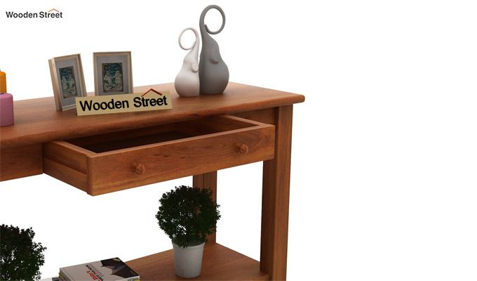 Iverson Console Table (Honey Finish)-5