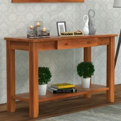 Iverson Console Table (Honey Finish)