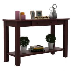 Iverson Console Table (Mahogany Finish)