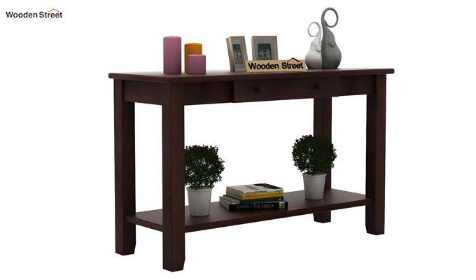 Iverson Console Table (Walnut Finish)-1
