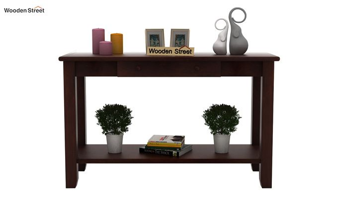 Iverson Console Table (Walnut Finish)-2