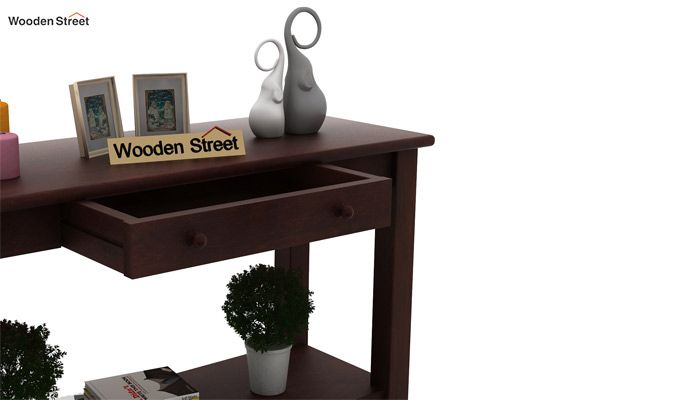 Iverson Console Table (Walnut Finish)-4
