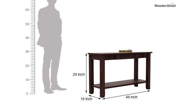 Iverson Console Table (Walnut Finish)-5