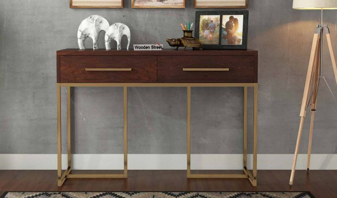 Jett Console Table (Walnut Finish)-2