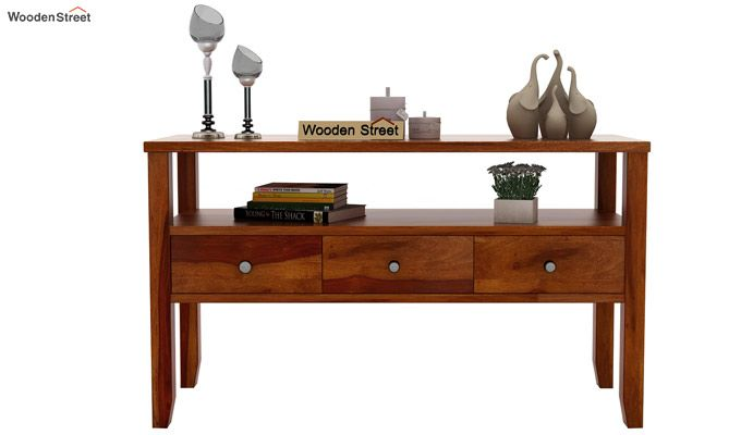 Judith Console Table (Honey Finish)-3