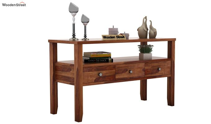Judith Console Table (Teak Finish)-1
