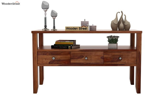 Judith Console Table (Teak Finish)-2