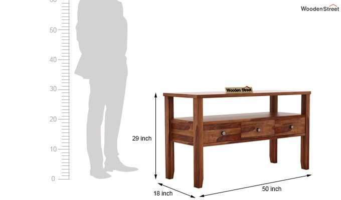 Judith Console Table (Teak Finish)-5