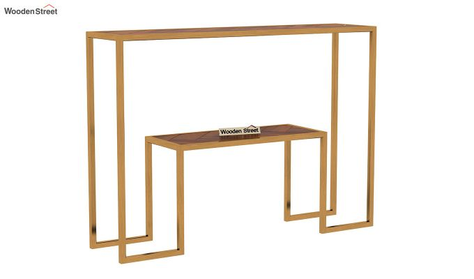 Ladon Console Table (Honey Finish)-3