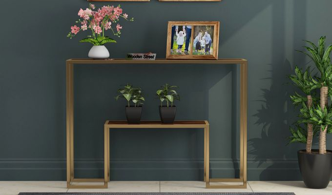 Ladon Console Table (Honey Finish)-2