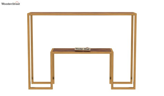 Ladon Console Table (Honey Finish)-4