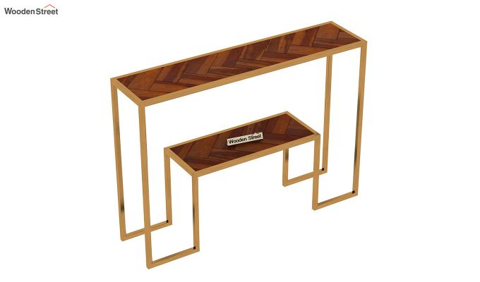 Ladon Console Table (Honey Finish)-5