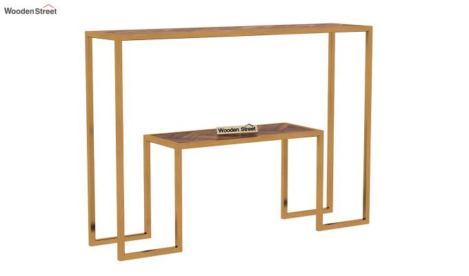 Ladon Console Table (Teak Finish)-3
