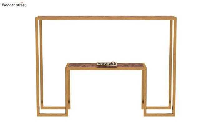 Ladon Console Table (Teak Finish)-4