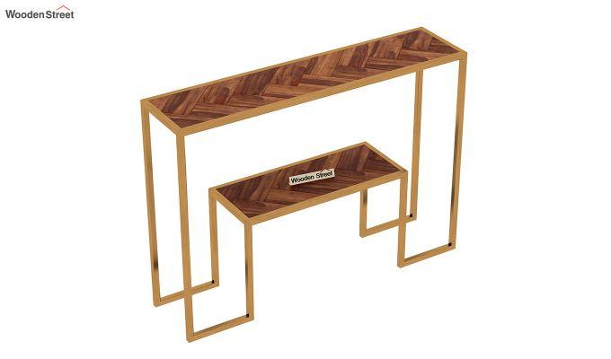 Ladon Console Table (Teak Finish)-5