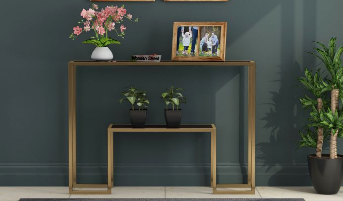 Ladon Console Table (Walnut Finish)-2