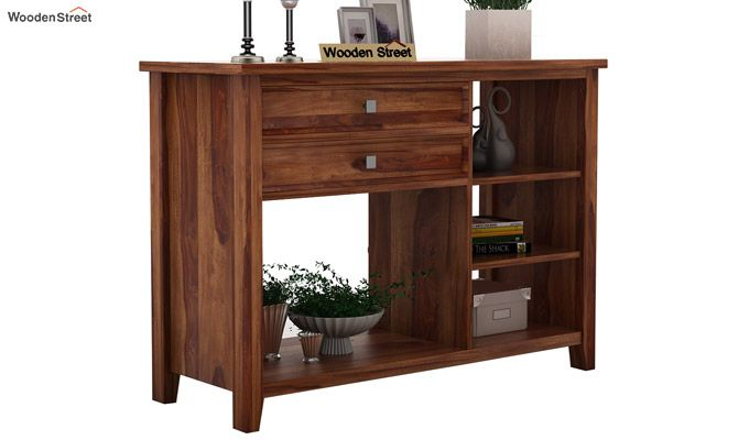 Lester Console Table (Teak Finish)-1