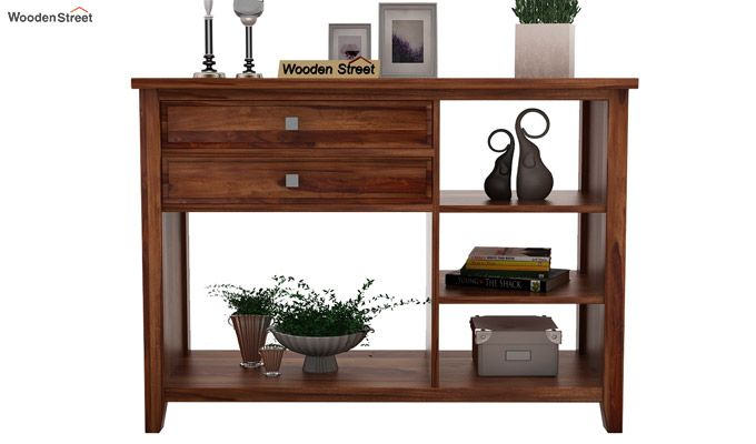 Lester Console Table (Teak Finish)-2
