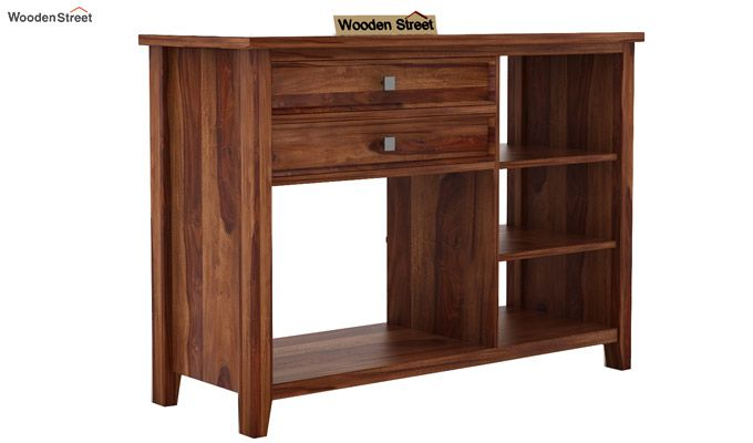 Lester Console Table (Teak Finish)-3